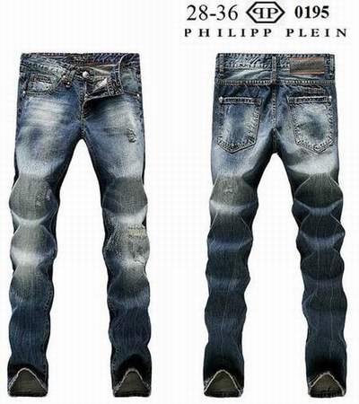 jeans Philipp Plein faux,jean homme noir brillant d775633e2e9e
